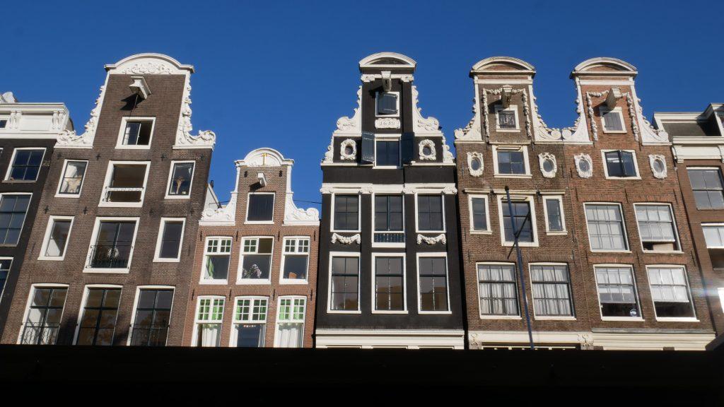 Typowa zabudowa Amsterdamu
